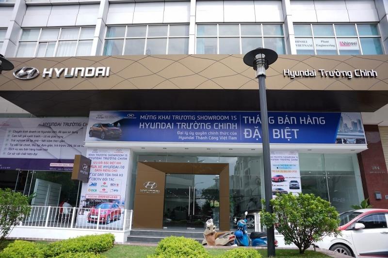 Hình ảnh showroom Hyundai Trường Chinh.