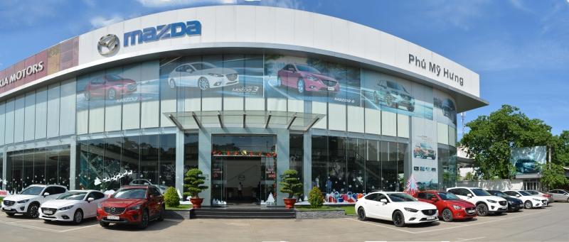 Mazda Phú Mỹ Hưng được đầu tư xây dựng theo tiêu chuẩn 3S của tập đoàn Mazda Motor tại Việt Nam