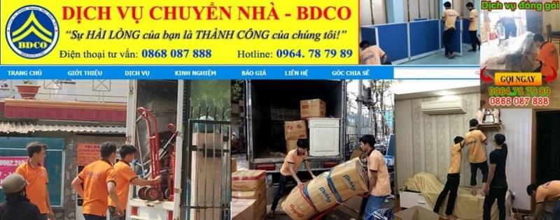 BDCO đơn vị chuyển nhà uy tín tại Bình Dương