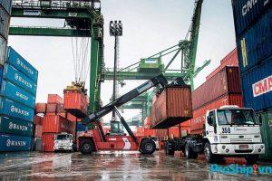 vận tải hàng hóa bằng xe container tại Proship