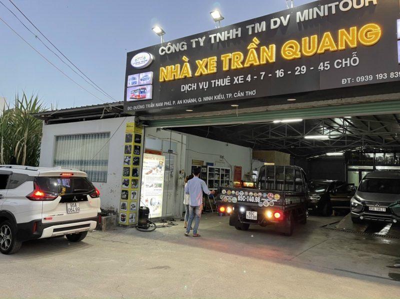nhà xe Trần Quang địa chỉ cho thuê xe Cần Thơ giá rẻ
