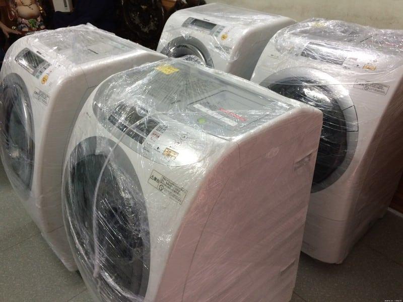 bọc máy giặt bằng màng PE đúng cách