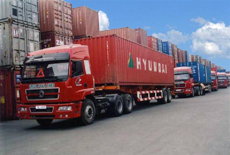 kích thước của xe container chở hàng