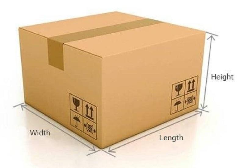 kích thước tiêu chuẩn của thùng carton