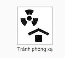 ký hiệu hàng hóa tránh phóng xạ