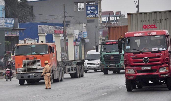 giờ cấm xe tải